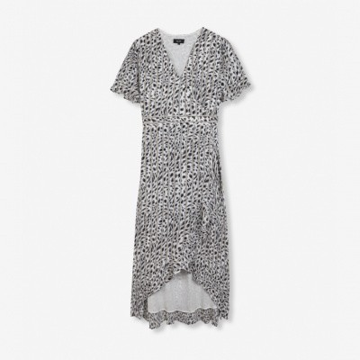 Foto van Alix the Label ladies woven striped Leopard dress