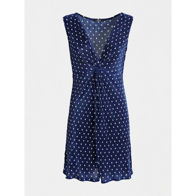 Guess Dress Vania Polkadot Navy / White