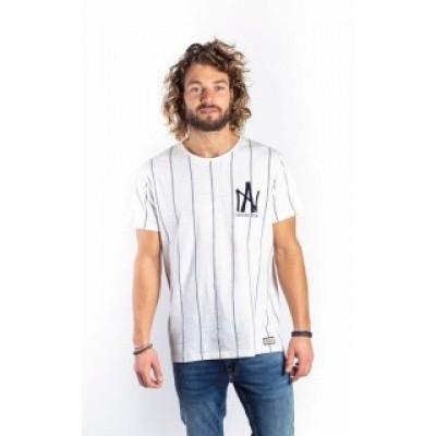Foto van Amsterdenim T-shirt Jan Kees Off-white