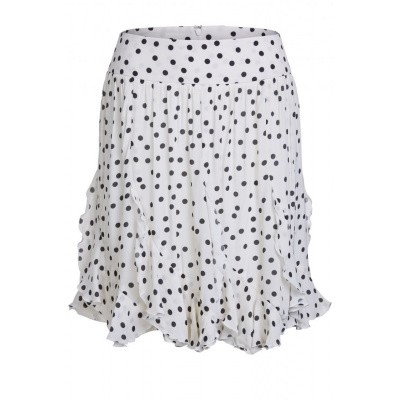 Set Skirt Polkadot Style 64992 off white / black