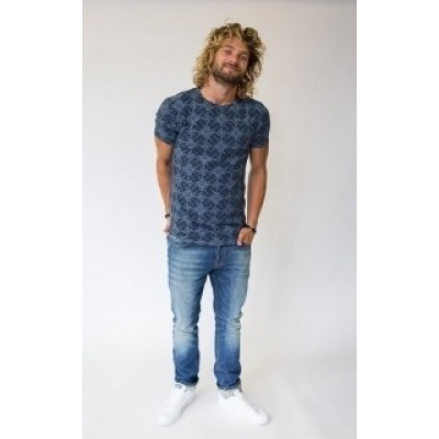 Foto van Amterdenim Jelle Bicycle T-shirt Blue/White