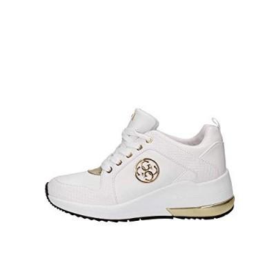 Foto van Guess Logo Sneaker white / gold