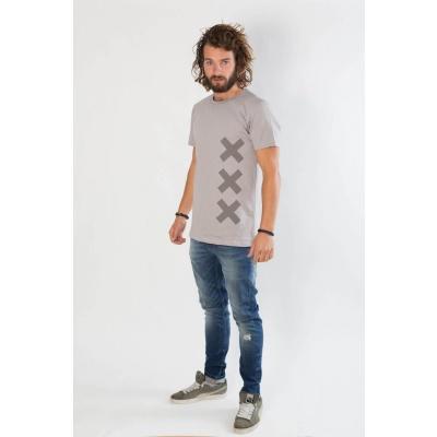 Foto van Amsterdenim T-Shirt KOOS Grey