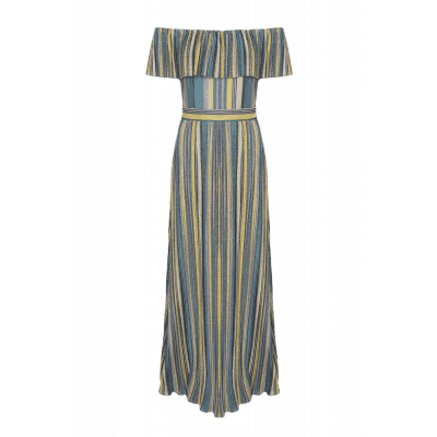 Maria Tailor Dionini Green Lurex Stripe