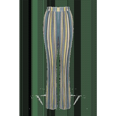 Foto van Maria Tailor Pauline Pant Green lurex stripe
