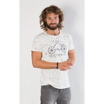 Foto van Amsterdenim T-shirt TOM White