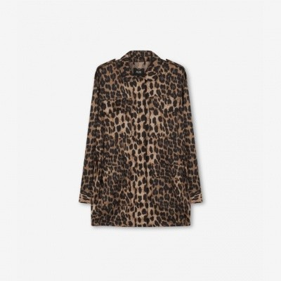 Alix jacket leopard sand