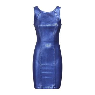 Guess coated dress metallic blue