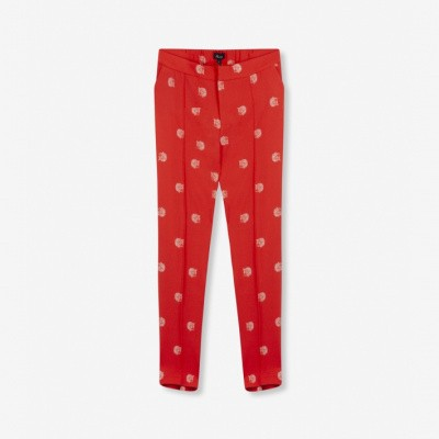 Foto van Alix the Label Ladies woven dot leopard pants Soft Coral