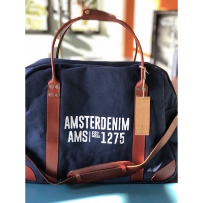 Foto van Amsterdenim bag Abel Navy Blue