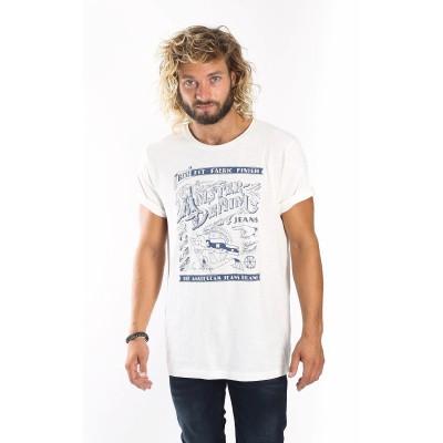 Foto van Amsterdenim T-shirt Krabman off white