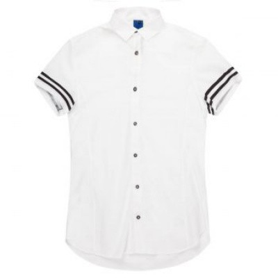 Koll3kt Stalios Short Sleeve Zip shirt White