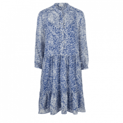Foto van Dante6 Lalique print Dress Rebel Blue
