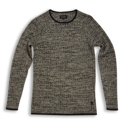 Gabba Reese O-neck knit Black melange