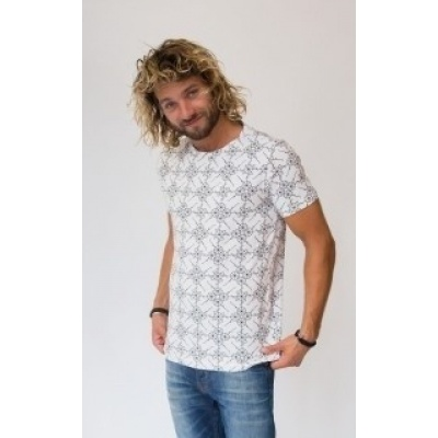Foto van Amsterdenim T-shirt Jelle Bicycle White/Black