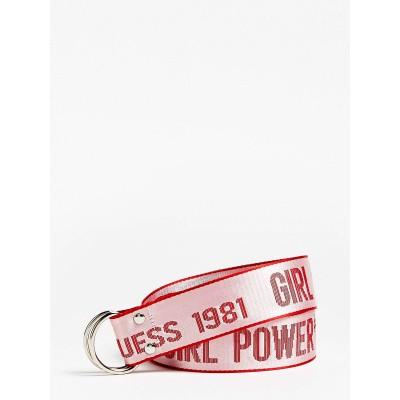 Foto van Guess Logo tape belt pink