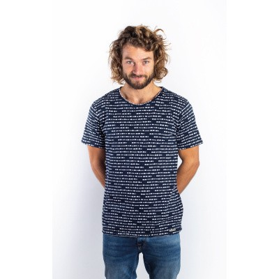 Foto van Amsterdenim T-shirt Roland Navy Blue