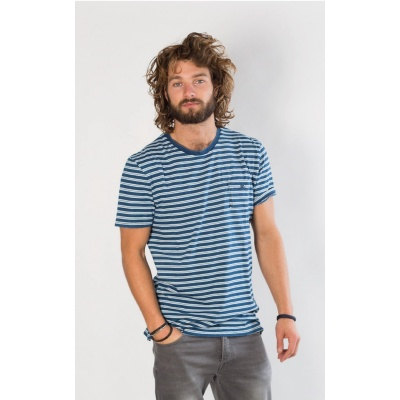 Foto van Amsterdenim T-shirt DANNY Blue stripes
