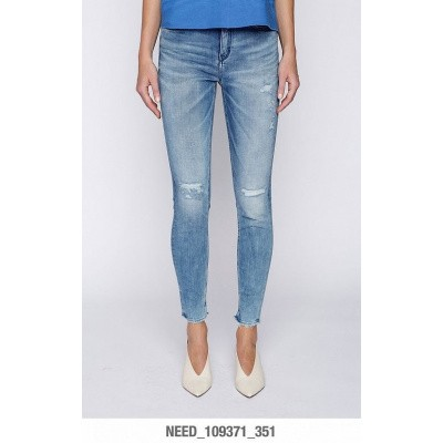 Foto van Drykorn Jeans Need 109371 Damaged lightblue