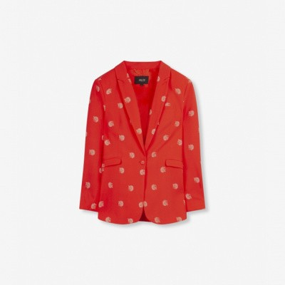 Foto van Alix the Label ladies woven dot leopard Blazer Soft Coral