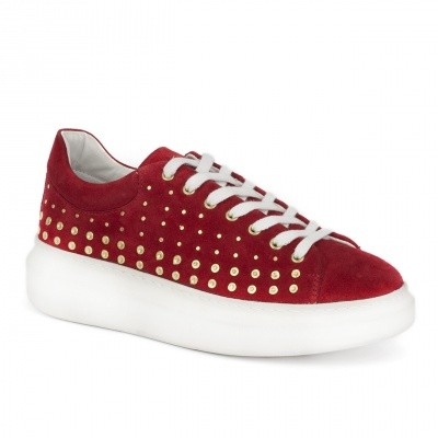 Foto van Deabused Shoe Studs Red