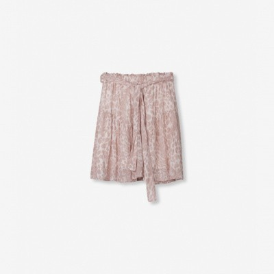 Foto van Alix the Label ladies woven Feather animal skirt Pale pink