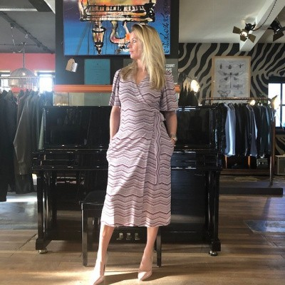 Foto van Janice dress Iggy stripe pink