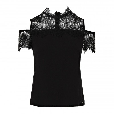 Foto van Guess black laced top