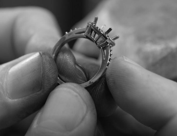 Ring in hands