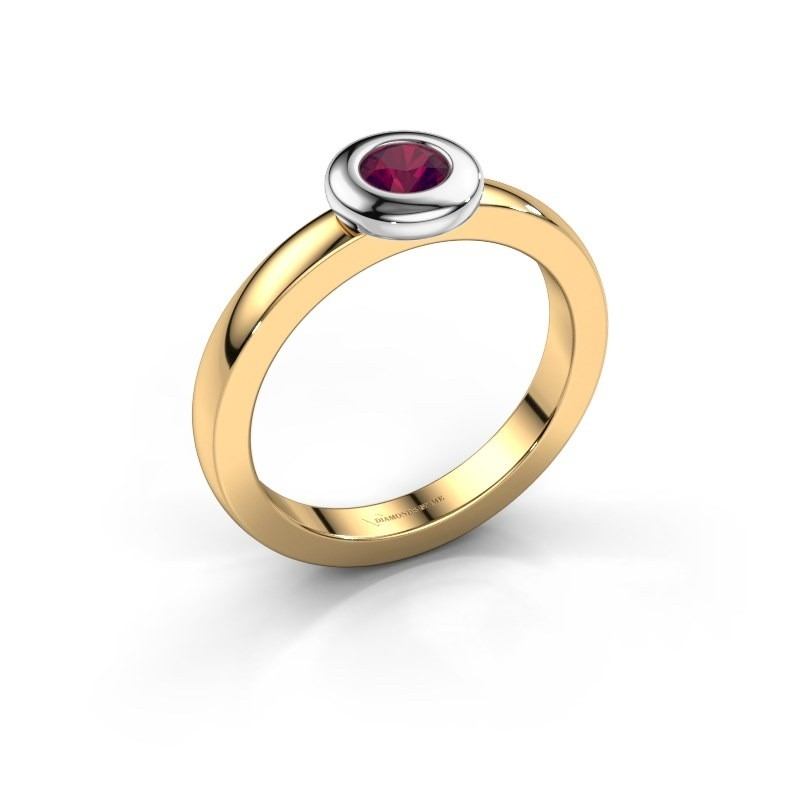 Ring Iris 585 goud rhodoliet 4 mm