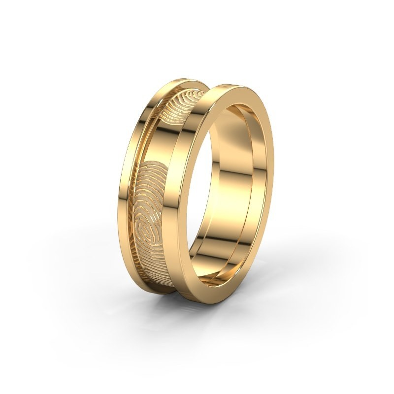 Trouwring WMH0427M955BP 585 goud ±5x2 mm