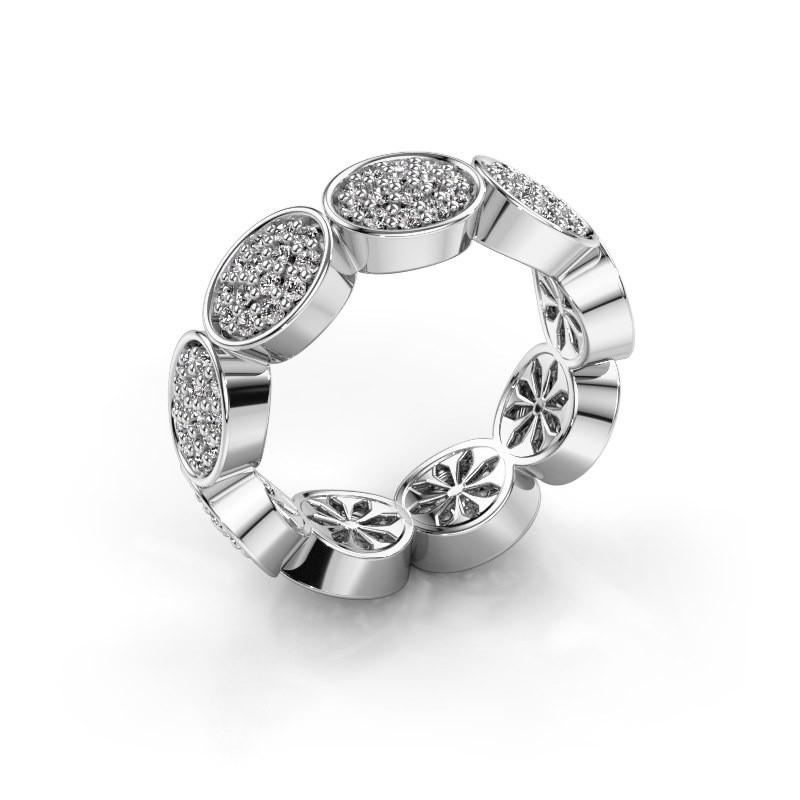 Ring Robin 585 witgoud diamant 0.945 crt