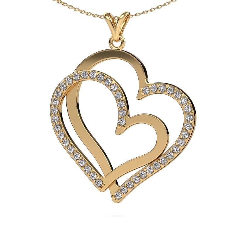 Halsketting Cathy 585 goud diamant 1.15 crt