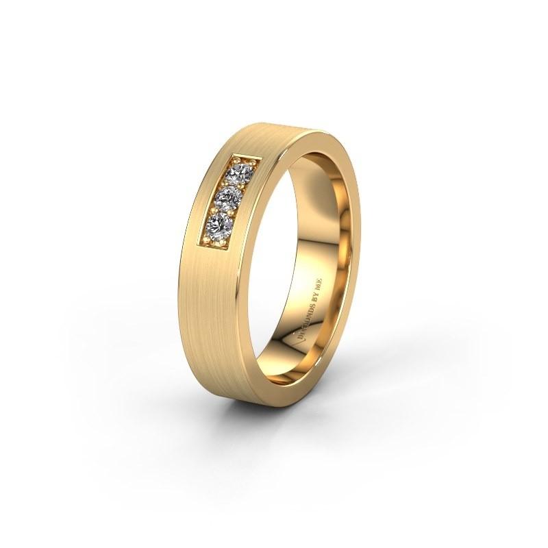 Trouwring WH0110L15BM 585 goud diamant ±5x2 mm
