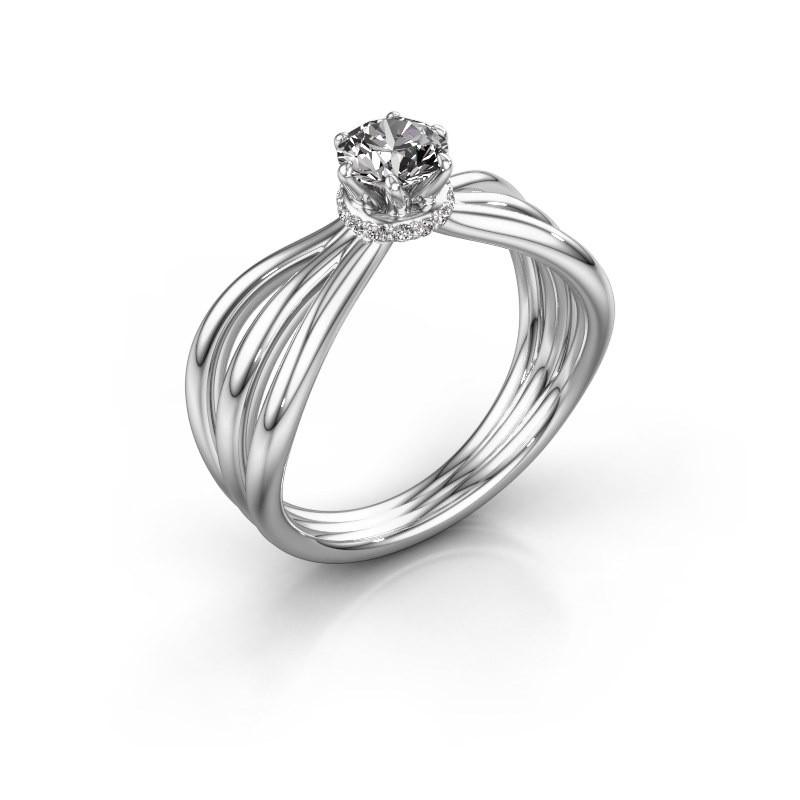 Verlovingsring Kimi 585 witgoud diamant 0.575 crt