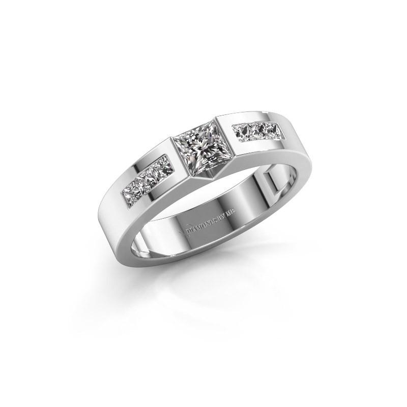 Verlovings ring Arlena 2 585 witgoud diamant 0.70 crt