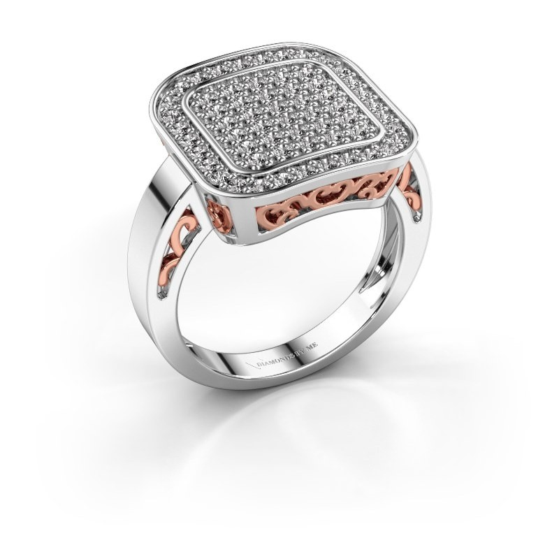 Ring Beatrice 585 witgoud diamant 0.60 crt