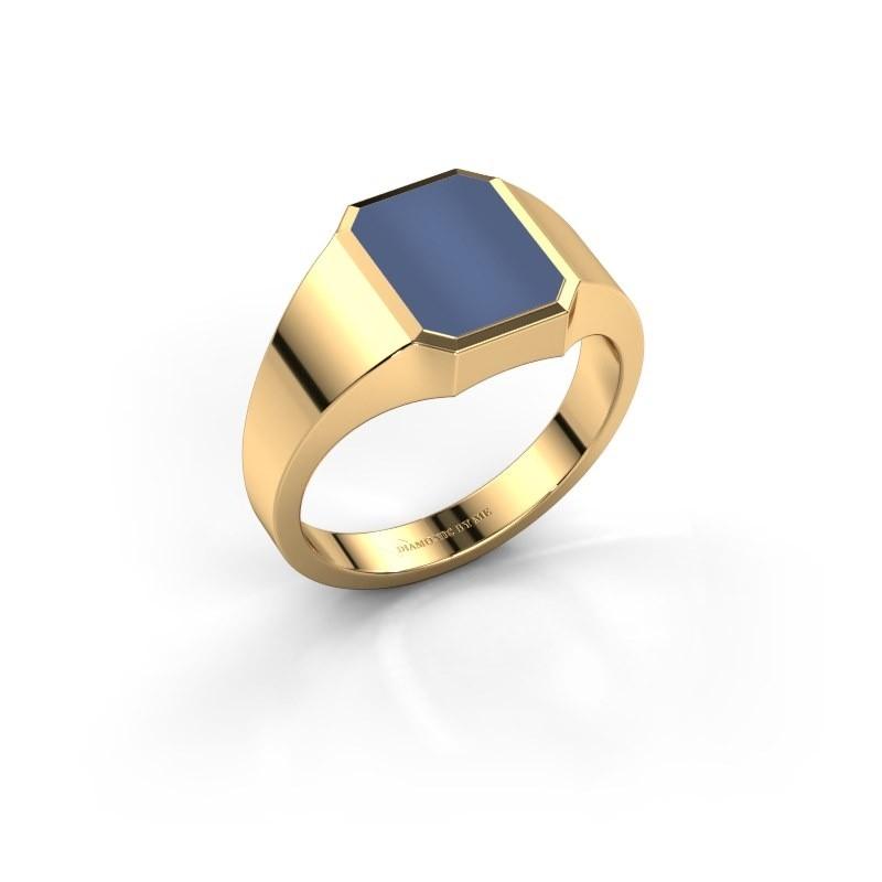 Pinkring Lars 1 585 goud blauw lagensteen 10x8 mm