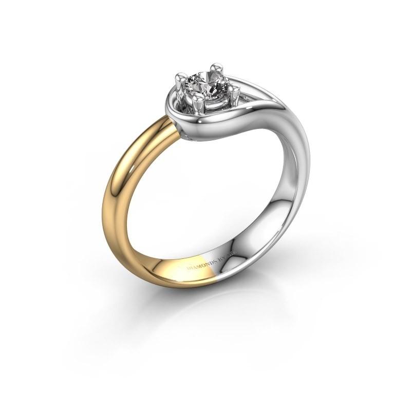 Ring Fabienne 585 witgoud diamant 0.25 crt