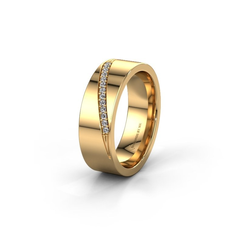 Trouwring WH2146L17A 585 goud lab created ±7x1.7 mm