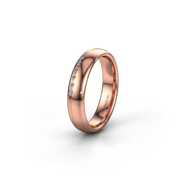 Vriendschapsring WH2144L34A 585 rosé goud lab created ±4x1.7 mm