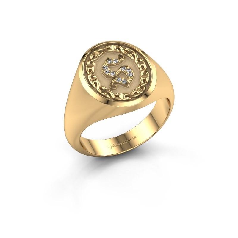 Heren ring Ruan 585 goud diamant 0.05 crt