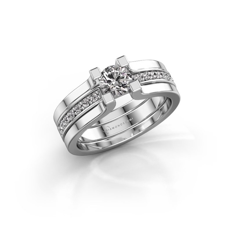 Verlovingsring Myrthe 585 witgoud diamant 0.668 crt