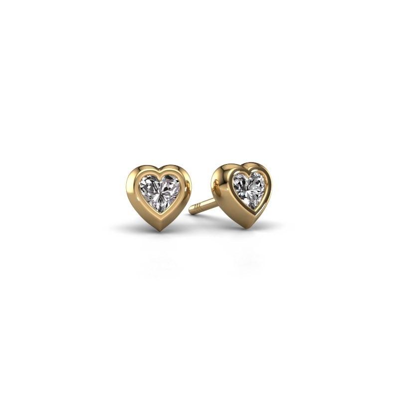 Oorknopjes Charlotte 585 goud diamant 0.50 crt