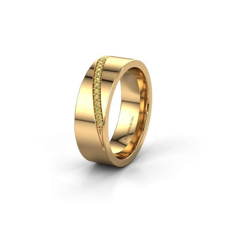 Trouwring WH2146L17A 585 goud gele saffier ±7x1.7 mm