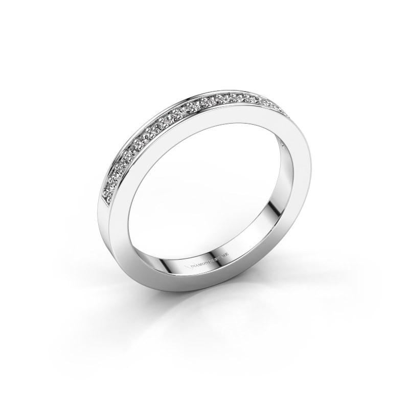 Aanschuifring Loes 4 585 witgoud diamant 0.18 crt