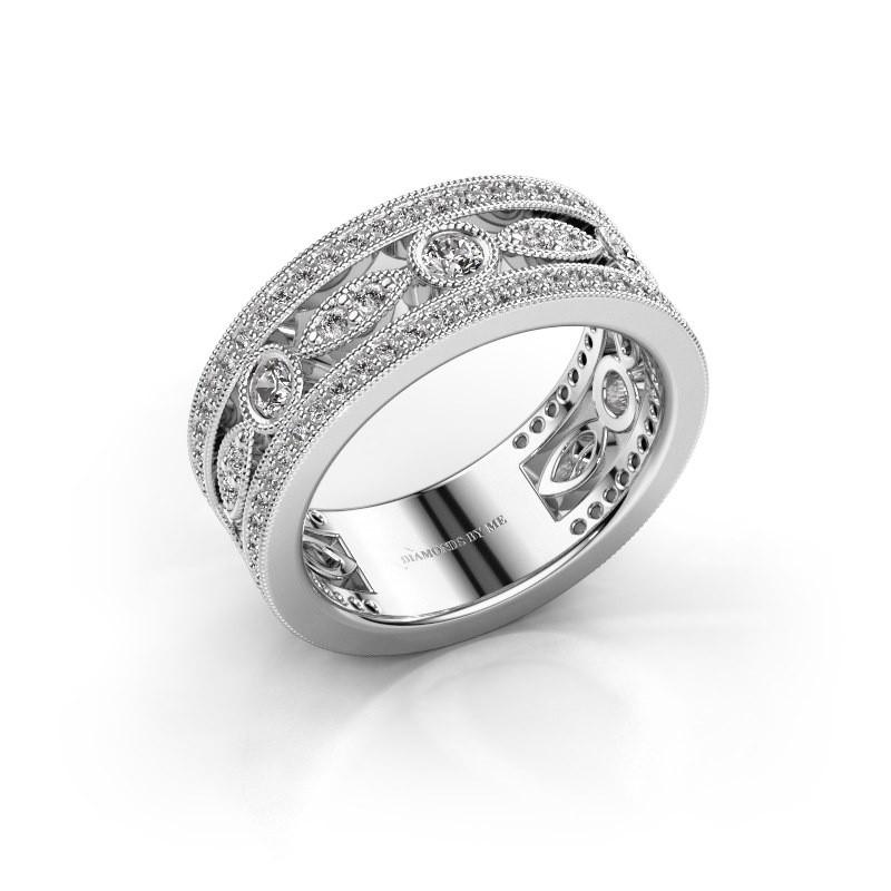 Ring Jessica 585 witgoud diamant 0.864 crt