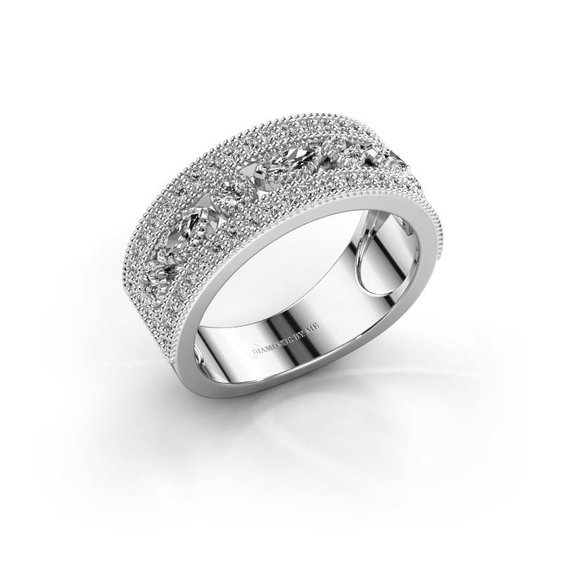 Ring Henna 585 witgoud diamant 0.768 crt