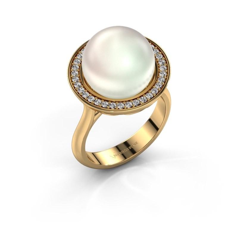 Ring Grisel 585 goud witte parel 12 mm