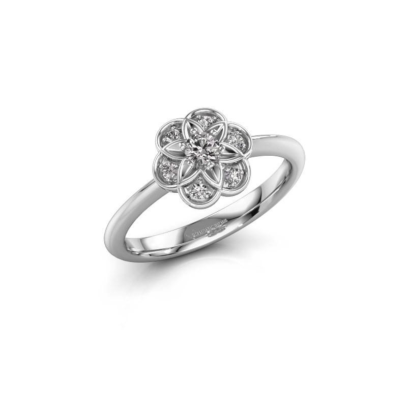 Verlovingsring Uma 585 witgoud diamant 0.172 crt